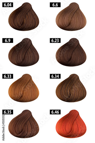 """Hair Color Catalogue 5"" Stock photo and royalty-free"