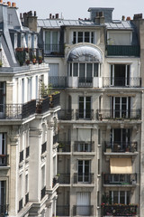 Classic homes in Paris France