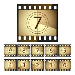Film countdown. Vector.