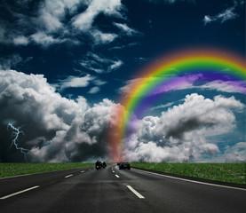 Papier Peint - Regenbogen