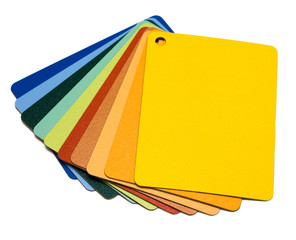 examples of varicoloured pieces of plastic