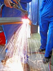 gas cutting angle iron