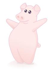 Cochon accueillant (reflet)