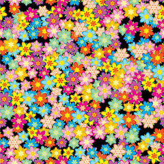 flowers seamless texture