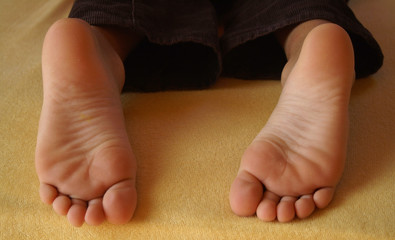 feet of a seven-year old boy