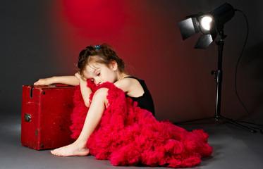 sleeping little actress