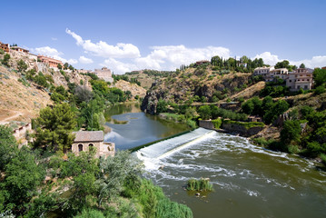 View of Tagus River in Toledo, Spain