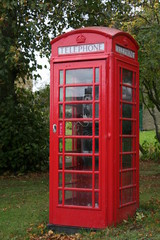 Red traditional phone box