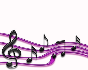 Purple musical bars