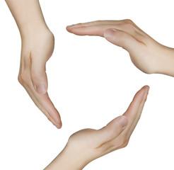 schützende Hände