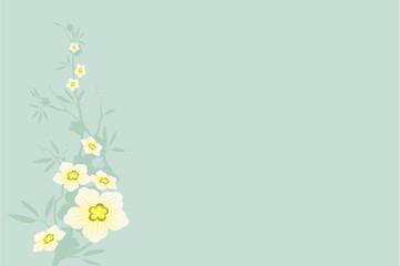 Hintergrund mit Blüten im Vektorformat