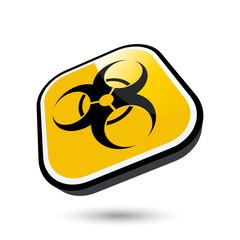 warnung biohazard risiko zeichen