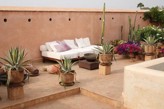 Maroc - Terrasse sur toit