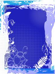 blau Pinsel Floral