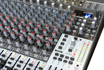 Professional audio mixing board