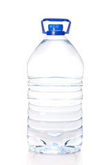 Large bottle of mineral water isolated on white background