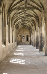 colonnade in St. John's college, Cambridge, UK