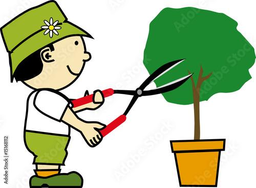 K jardinier 14 fichier vectoriel libre de droits sur for Jardinier tarif
