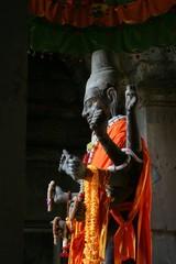 Cambodge - Angkor - Temple d'Angkor Wat - divinité