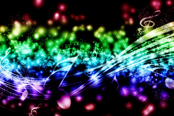Fondino Musicale in nero