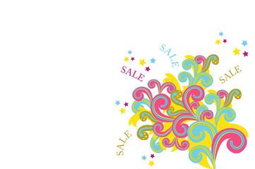 Abstrakte Form mit Schriftzug Sale