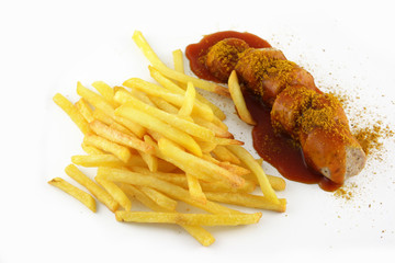 Currywurst Pommes Frites