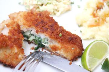 fisch mit spinat