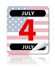 """Calendar Entry """"4th July"""" with reflection"""