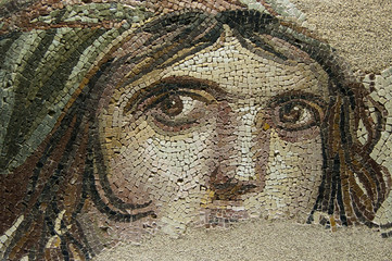 THE GYPSY GIRL (GAIA) Ancient Mosaic