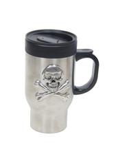 Stainless steel skull travel mug