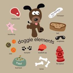 Dog Elements Set
