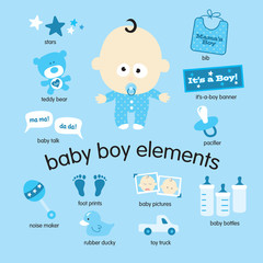 Baby boy elements set