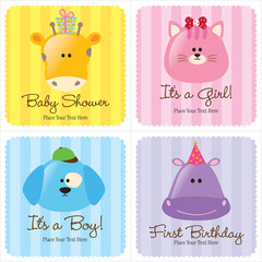 Assorted Baby Cards Set 3