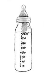 illustration biberon