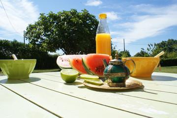 thé orange citron pastèque