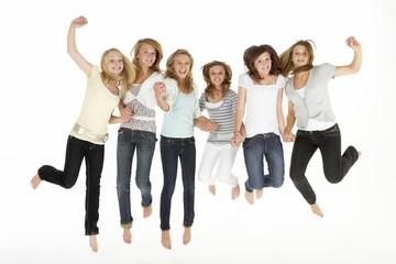 Group Of Teenage Girlfriends