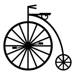 Vector of a pennyfarthing cycle isolated on white background