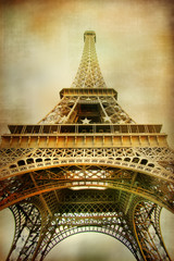 Fototapete - Eiffel tower - artistic style picture