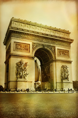 Wall Mural - Great architecture - Arc-de-triumph - artistic style picture