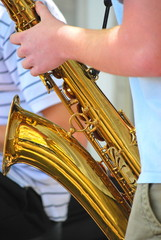 Tenor saxophone player.