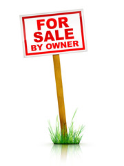 Artwork For Real Estate  - Sign For Sale by Owner