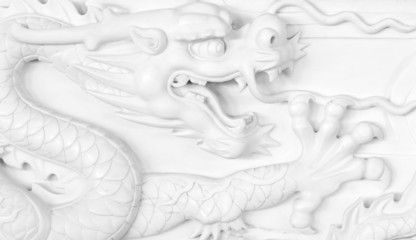 Chinese dragon carving