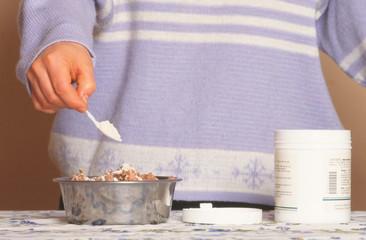 préparation d'une ration alimentaire pour chien - complément