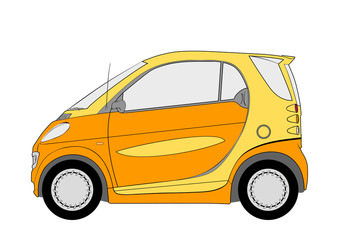 Vector illustration of the city car for use in design