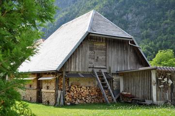 Old Wooden Barn. Trenta, Slovenia