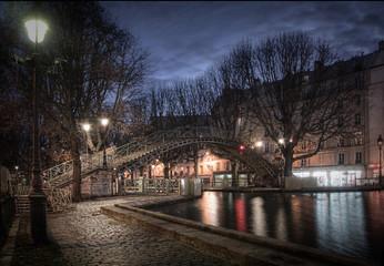 Fototapete - Canal Saint Martin