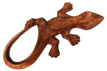 gecko en bois