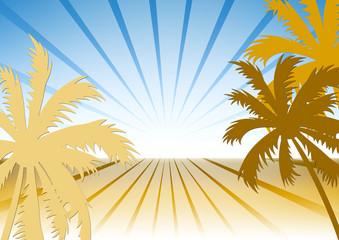 Hintergrund Strand Palmen