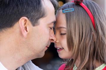 nez à nez avec mon papa
