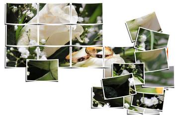 composición fotos anillos boda